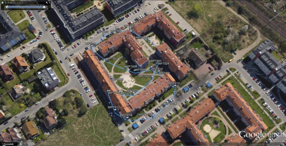 Wizualizacja trasy w Google Earth