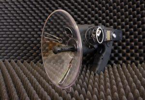 Rejestrator Zoom H-1 zamocowany na mikrofonie MPA-2